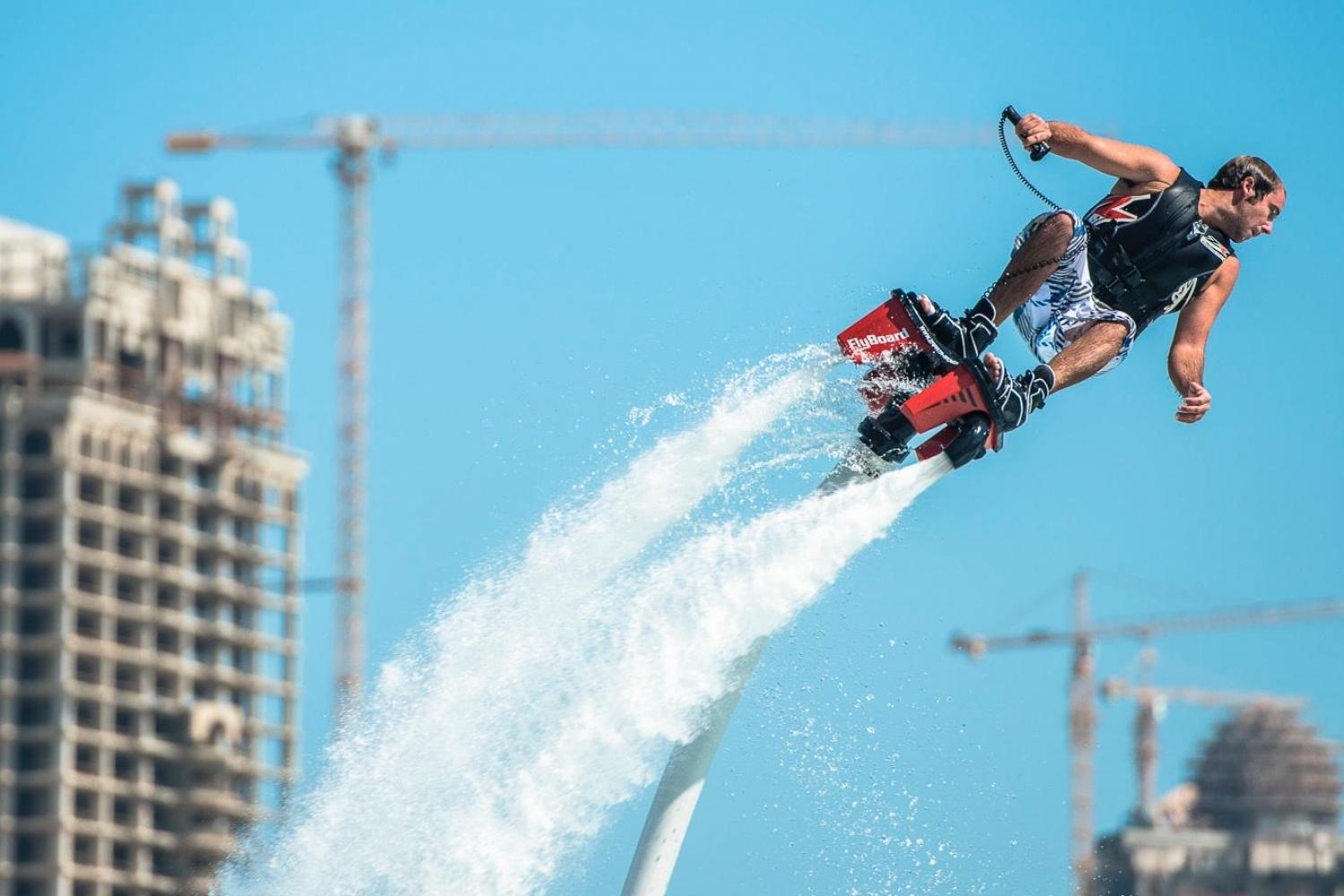 Experience the unique experience of Dubai Flyboarding with Beach Riders Dubai